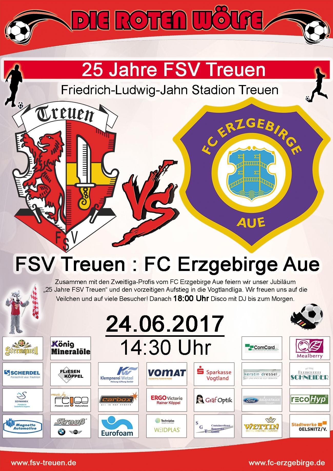 FSV Treuen gegen Erzgebirge Aue