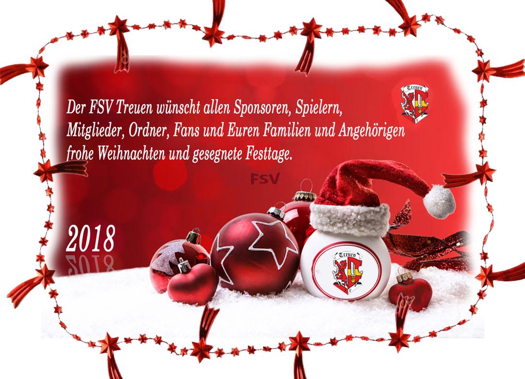 Frohe Weihnacht wünscht der FSV