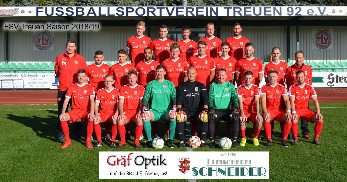 1. Mannschaft FSV Treuen Saison 2018/19
