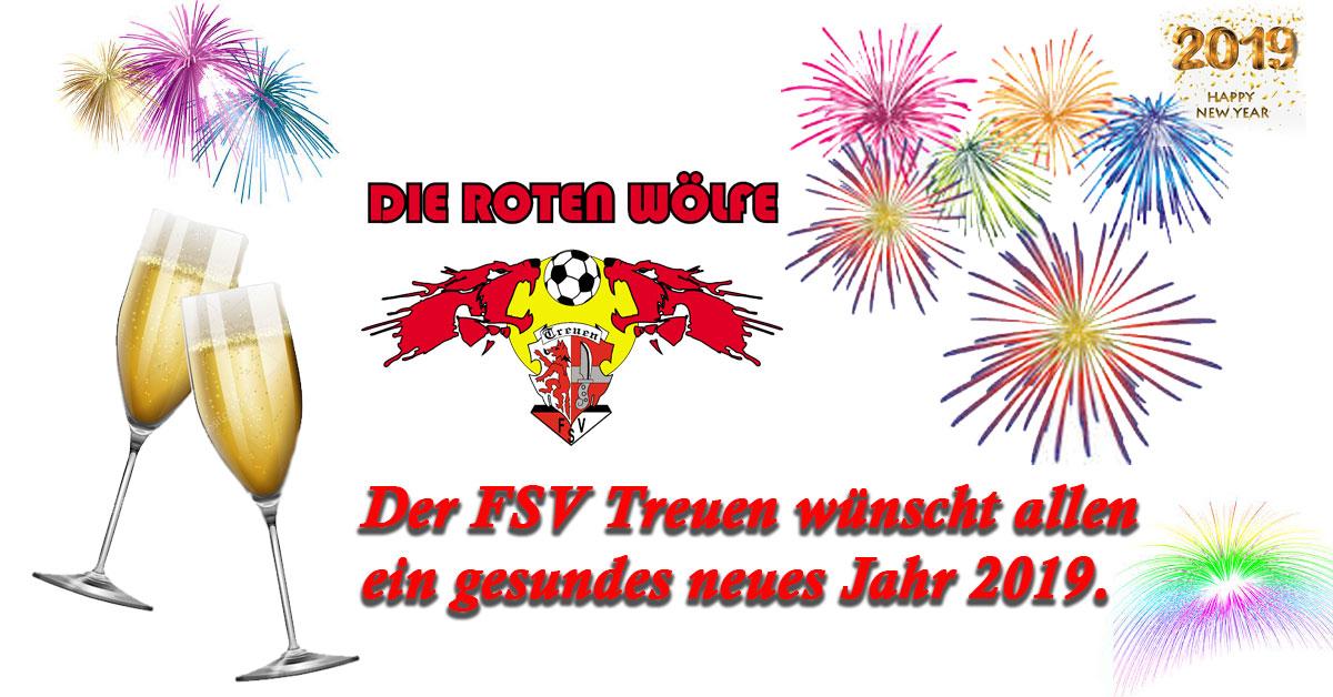 Der FSV Treuen wünscht ein frohes neues Jahr 2019