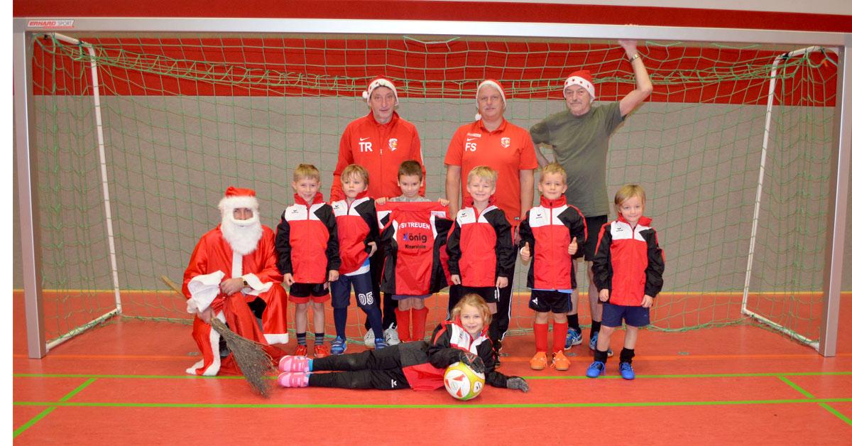 FSV Treuen Weihnachtsmann bei den Bambini 2018
