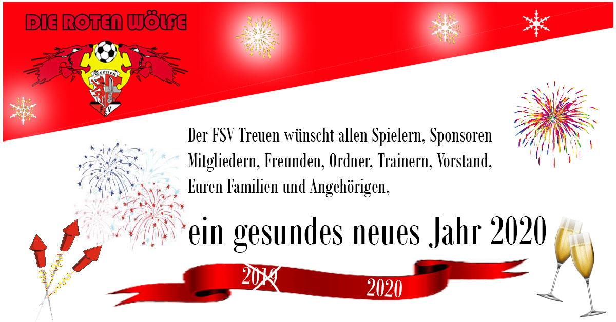 der FSV Treuen wünscht ein frohes 2020