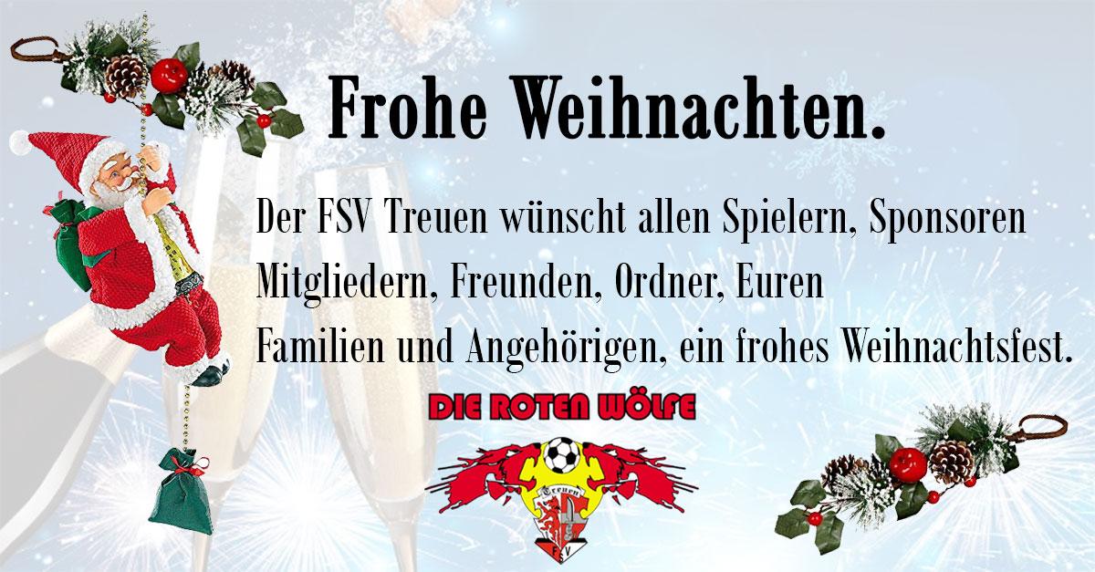 Frohe Weihnachten FSV Treuen
